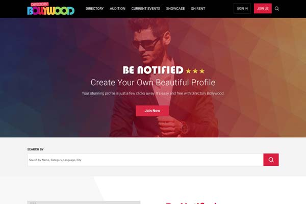Bollywood Website Design Project 1