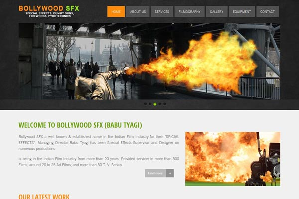 Bollywood Website Design Project 11