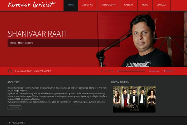 Bollywood Website Design Project 14