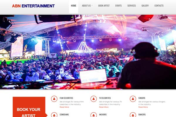 Bollywood Website Design