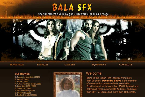 Bollywood Website Design Project 3
