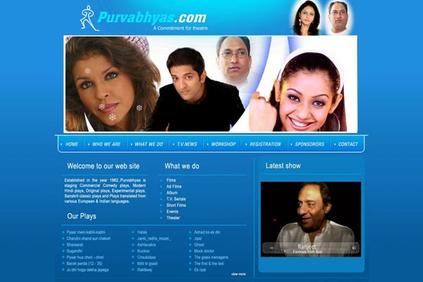 Bollywood Website Design Project 5
