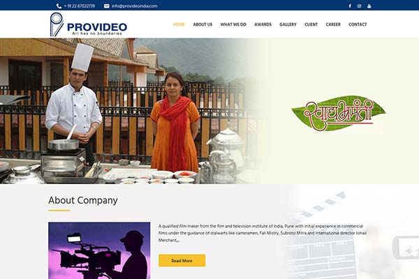 Bollywood Website Design Project 6