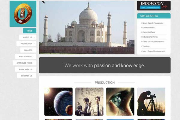Bollywood Website Design Project 7